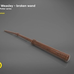 3D print model Ron Weasley broken wand - Harry Potter films 3D print model, 3D-mon