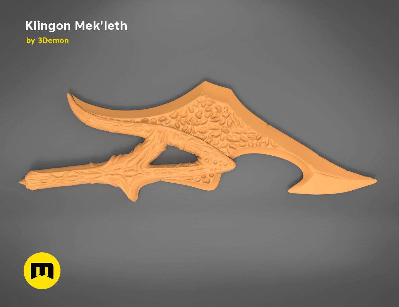 mekleth1_orange.479.jpg Download OBJ file Klingon Mek'leth - Star Trek • Model to 3D print, 3D-mon