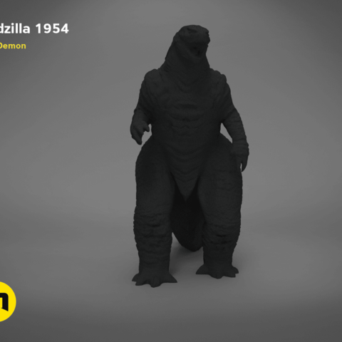 godzilla-black-japanese-front.195.png Download free OBJ file Godzilla 1954 figure and bottle opener • 3D printer model, 3D-mon