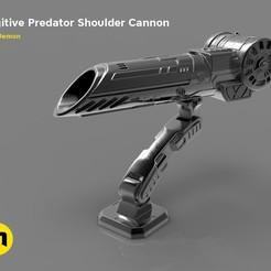 Descargar modelo 3D Cañón de plasma Predator, 3D-mon