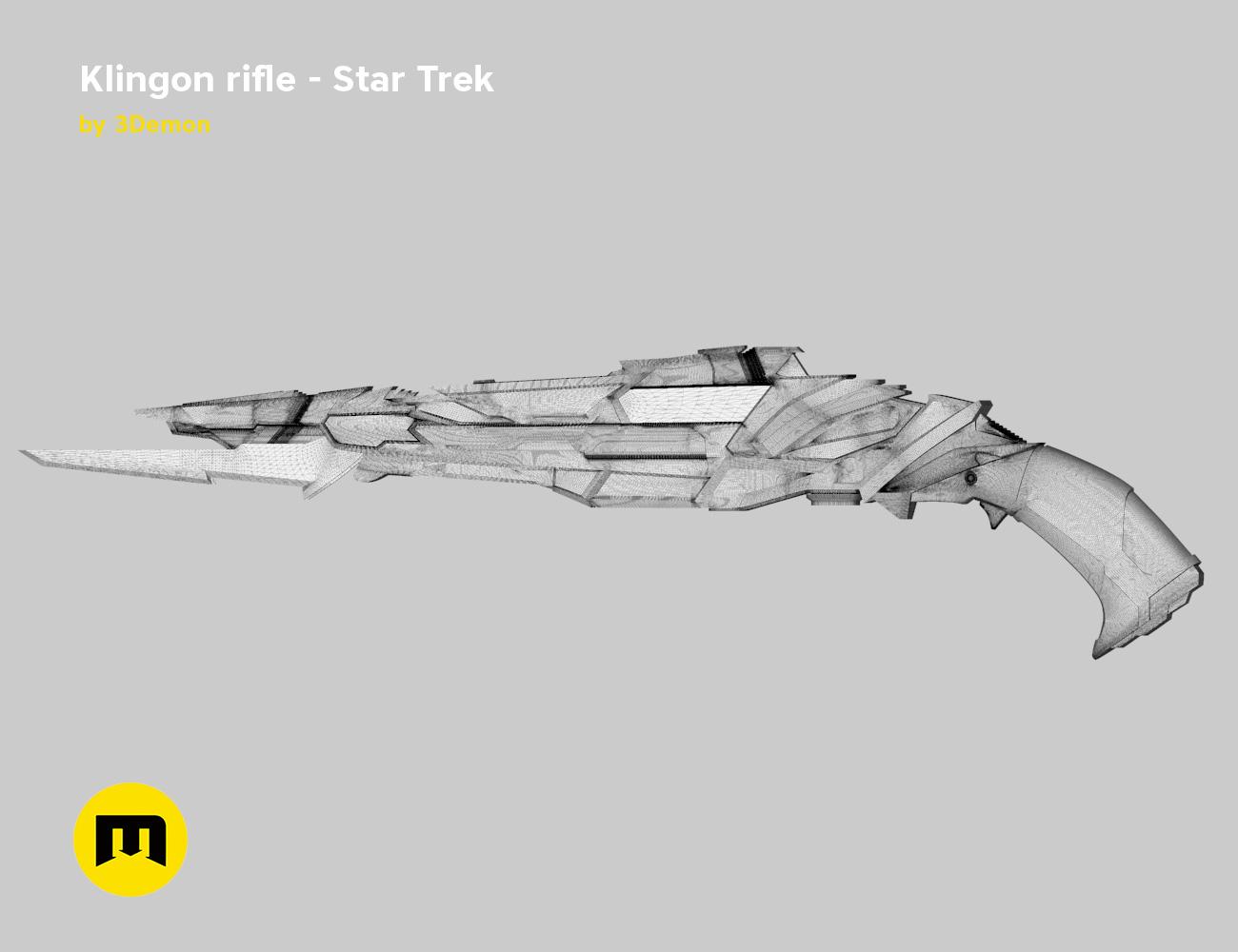 render_rifle_mesh.801.jpg Download STL file Klingon rifle • Model to 3D print, 3D-mon