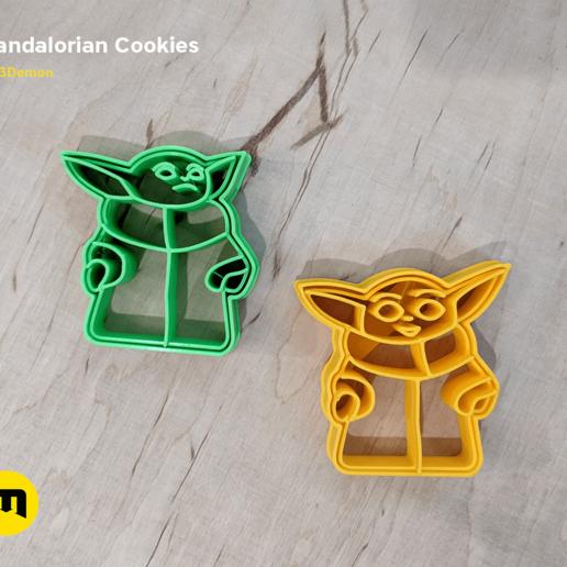IMG_20191206_153224.png Download STL file Yoda Baby Cookie Cutter Mandalorian • 3D printer design, 3D-mon