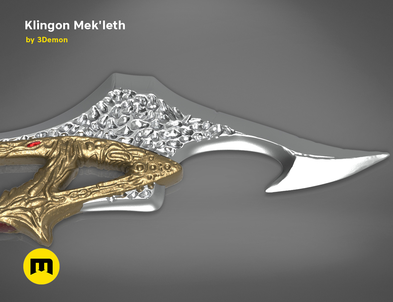 mekleth1_color_render.473.jpg Download OBJ file Klingon Mek'leth - Star Trek • Model to 3D print, 3D-mon