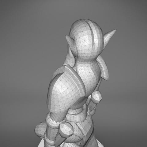 Warrior_2-detail_5.351.jpg Download STL file ELF WARRIOR FEMALE CHARACTER GAME FIGURE 3D print model • 3D printing object, 3D-mon