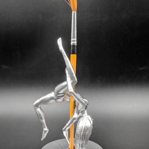 IMG_20190220_103242.png Download STL file Pole Dancer - Pen Holder • Object to 3D print, 3D-mon