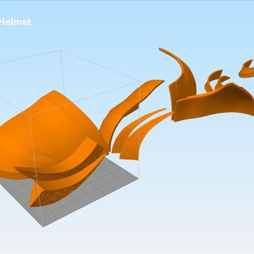 GoT-mountain-helmet-parts.jpg Download STL file The Mountain Helmet – Game of Thrones • 3D printing model, 3D-mon