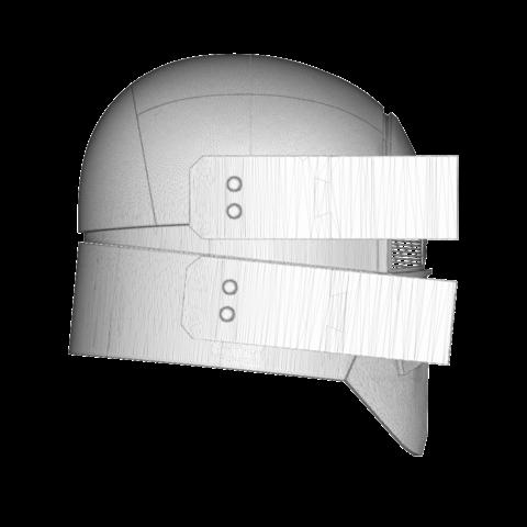render_scene-left.107.png Download OBJ file Sniper - Knights of Ren Helmet mask, Star Wars 3D print model • 3D printable model, 3D-mon