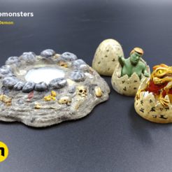 earlypledgeSET_2.png Download free STL file Surprise Egg Miniature 3Demonsters • 3D print design, 3D-mon