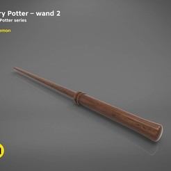 Objet 3D Harry Potter Wand version 2 - Harry Potter 3D modèle d'impression 3D, 3D-mon