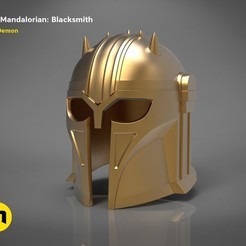 render_mandalorian-blacksmith-color.90.jpg Download STL file The Mandalorian - blacksmith helmet • 3D print design, 3D-mon