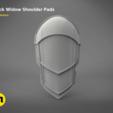 untitled.381.png Download STL file White shoulder armor – BLACK WIDOW 3D PRINT MODEL • 3D printable template, 3D-mon