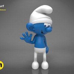 Download STL Smurf - 3D PRINT MODEL, 3D-mon