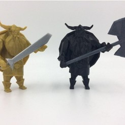 Free 3D print files Lowpoly Viking, 3D-mon