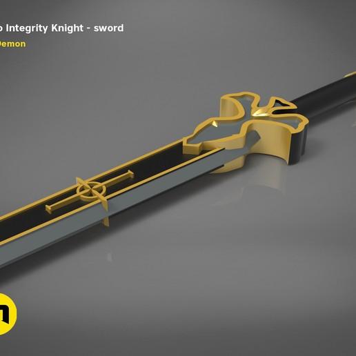 render_scene_Integrity-knight-sword.15 kopie.jpg Download STL file Kirito's Sword - Integrity Knight • 3D print model, 3D-mon