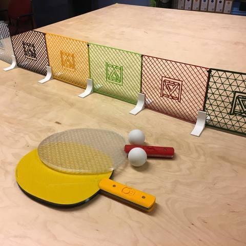 ping pong makerslab 3d print 011.jpg Télécharger fichier STL gratuit Ping Pong tennis de table • Design pour impression 3D, 3D-mon