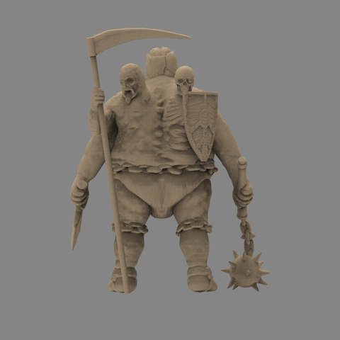 fatman_scene.80.png Download STL file Pirfes figure - 3D print model • Design to 3D print, 3D-mon