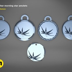 Download 3D printer designs Witcher morning star amulets , 3D-mon