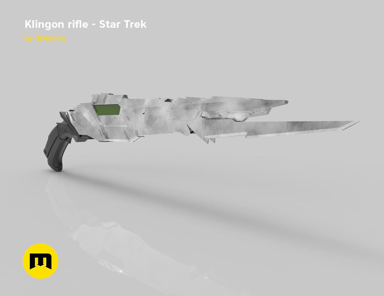 render_rifle_color.910.jpg Download STL file Klingon rifle • Model to 3D print, 3D-mon