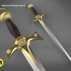 render_scene_xena-weapons-sword-main kopie.jpg Download STL file Xena - Warrior Princess Sword • 3D printing object, 3D-mon