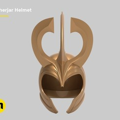 3D printer models Einherjar helmet, 3D-mon