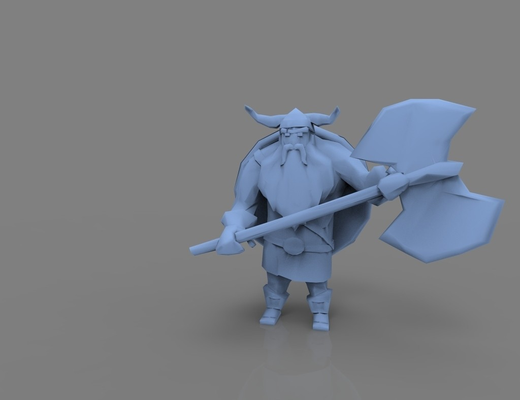 2.jpg Download free STL file Lowpoly Viking • 3D printer design, 3D-mon