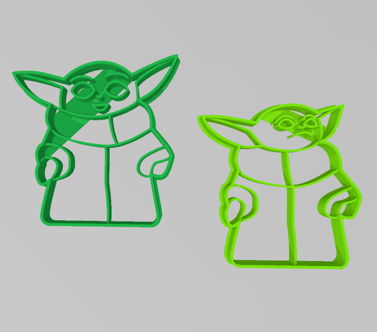 yoda1.png Download STL file Yoda Baby Cookie Cutter Mandalorian • 3D printer design, 3D-mon