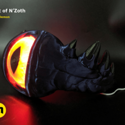 Nzoth_1.png Download OBJ file Gift of N'Zoth - World of Warcraft • 3D printer model, 3D-mon