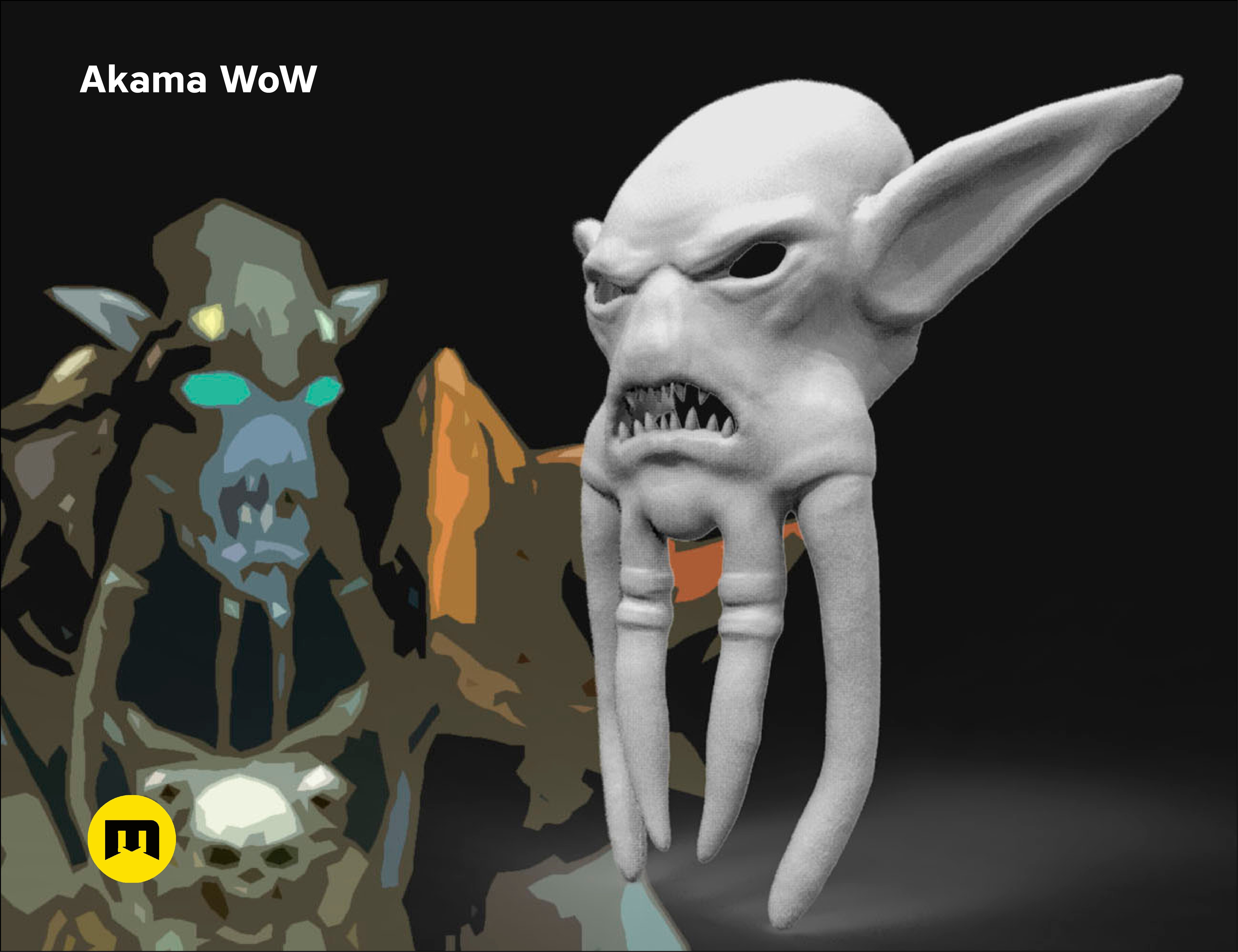 CGTrader_akama.jpg Download STL file Mask of Akama's face from World of Warcraft • Model to 3D print, 3D-mon
