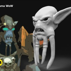 Imprimir en 3D Máscara de la cara de Akama de World of Warcraft, 3D-mon