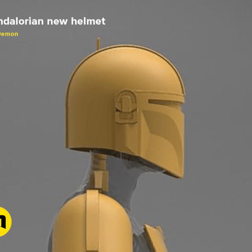 Download 3D Printer Designs THE MANDALORIAN HELMET