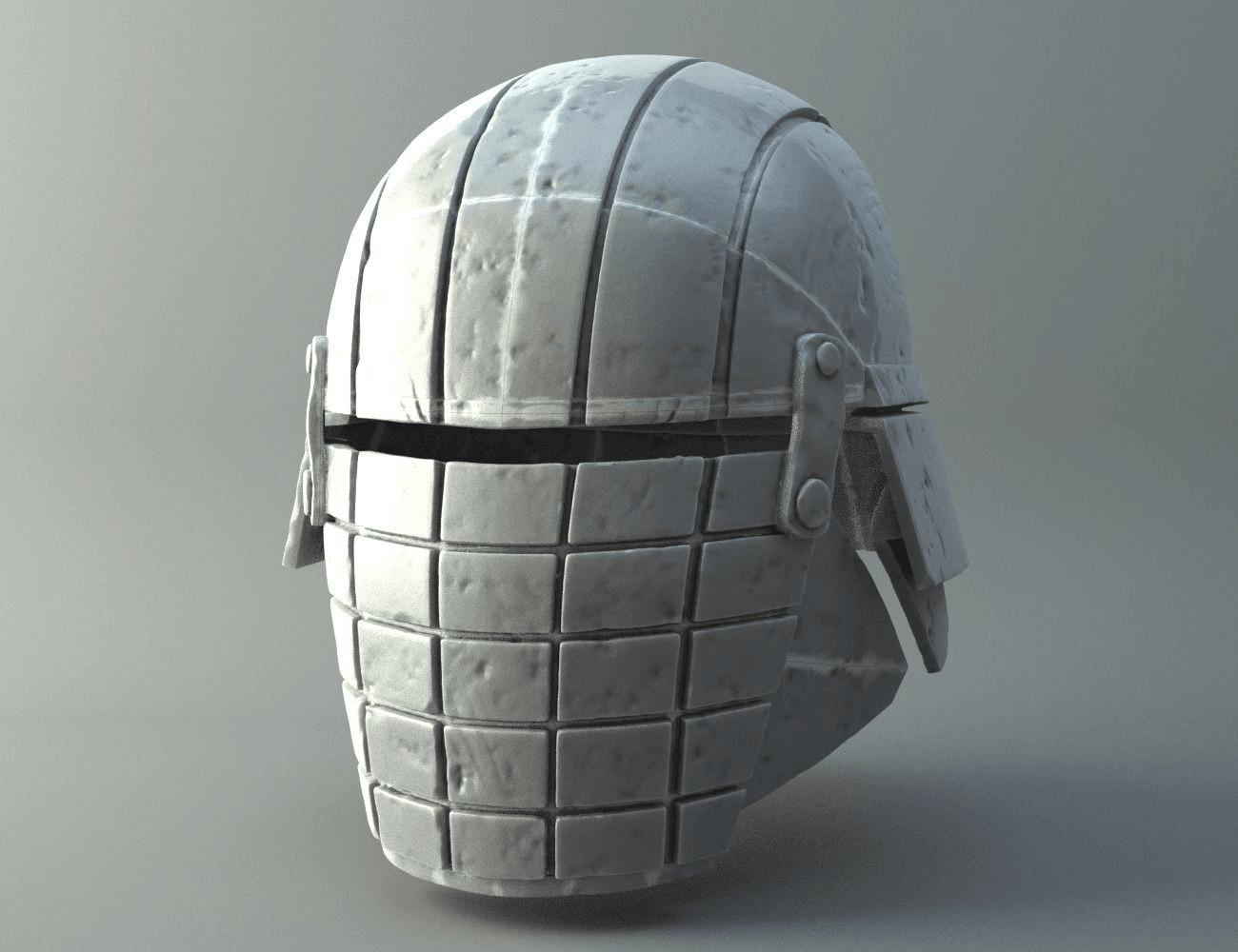 Photo.png Download OBJ file Rogue - Knights of Ren Helmet (damaged), 3D print model • 3D print design, 3D-mon