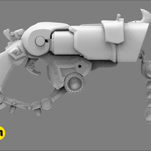 CGTrader_Roadhog_gun_bajie11.jpg Download STL file Overwatch Roadhog Gun Bajie • Model to 3D print, 3D-mon
