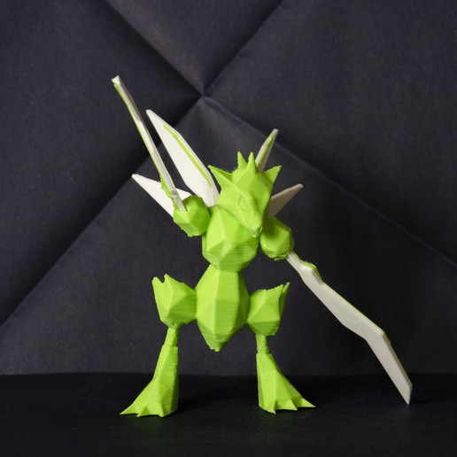 Download STL file Scyther LowPoly Pokemon • 3D printing object, 3D-mon