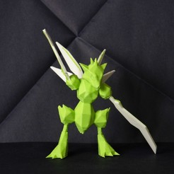 pokemon-low-poly024.JPG Download STL file Scyther LowPoly Pokemon • 3D printing object, 3D-mon