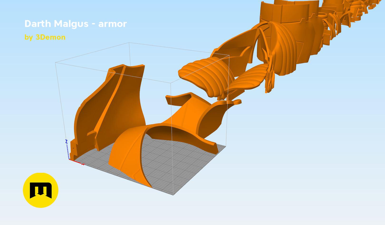 Darth-malgus-parts.jpg Download STL file Darth Malgus's full size armor • Design to 3D print, 3D-mon
