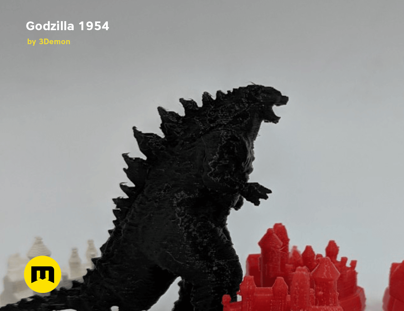IMG_20190301_100205.png Download free OBJ file Godzilla 1954 figure and bottle opener • 3D printer model, 3D-mon