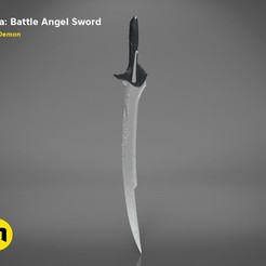 Download 3D printer templates Alita – Damascus Blade, 3D-mon