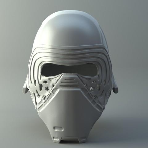 3D printer models Star Wars Kylo Ren Helmet 3D print model, 3D-mon