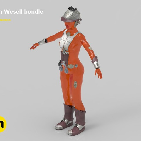 3D print files Zam Wesell bundle, 3D-mon