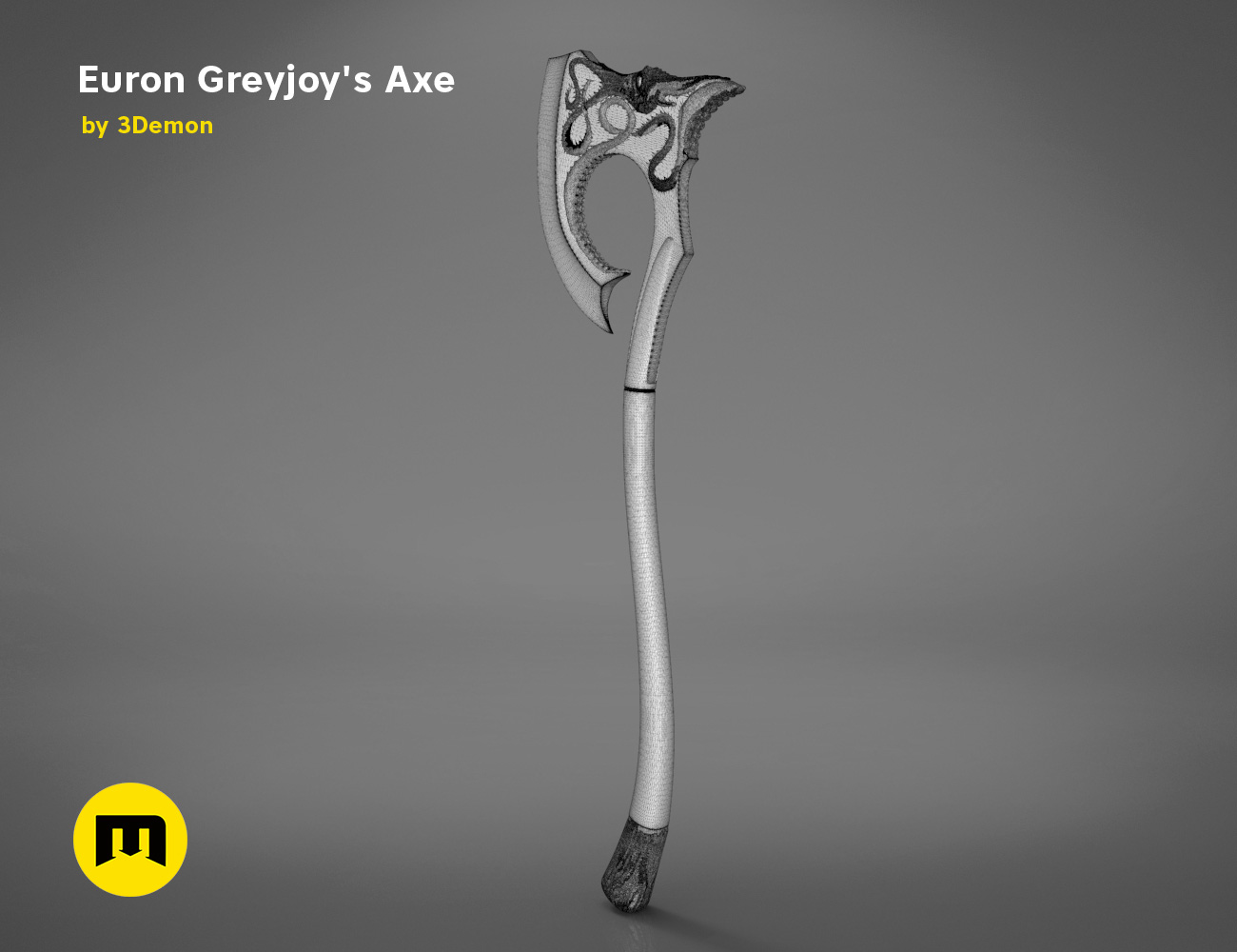 axe-gameofthrones-mesh.983.jpg Download OBJ file Euron Greyjoy's Axe • 3D printable object, 3D-mon