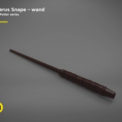 Objet 3D Severus Snape wand - Harry Potter films Harry Potter modèle d'impression 3D, 3D-mon