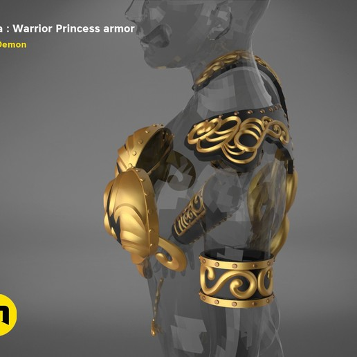render_scene_Xena-armor-color.4.jpg Download STL file Xena - Warrior Princess cosplay armor • 3D print template, 3D-mon