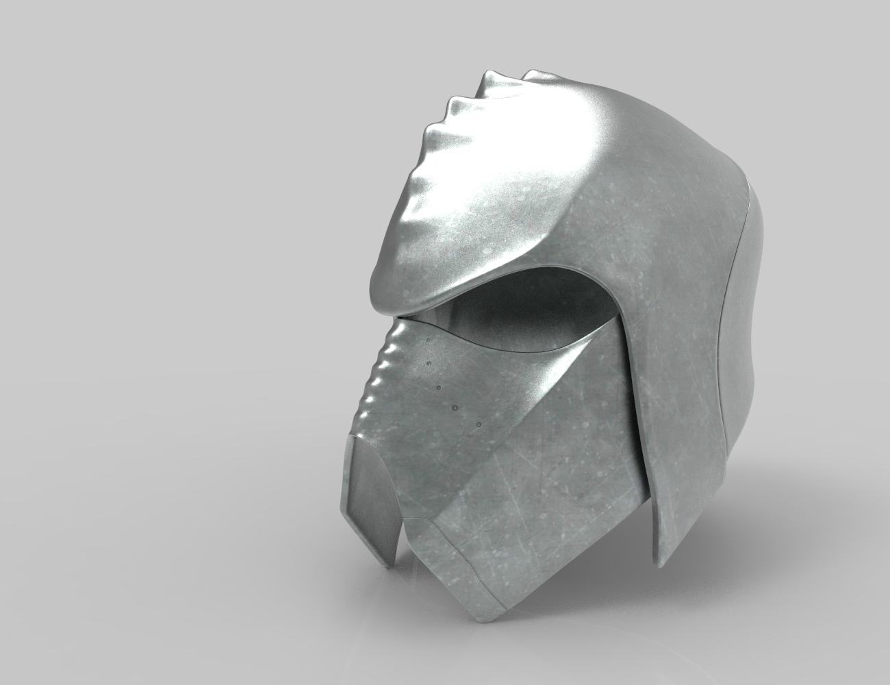 render_klingon_color.49.jpg Download STL file Klingon guard helmet • 3D printer object, 3D-mon