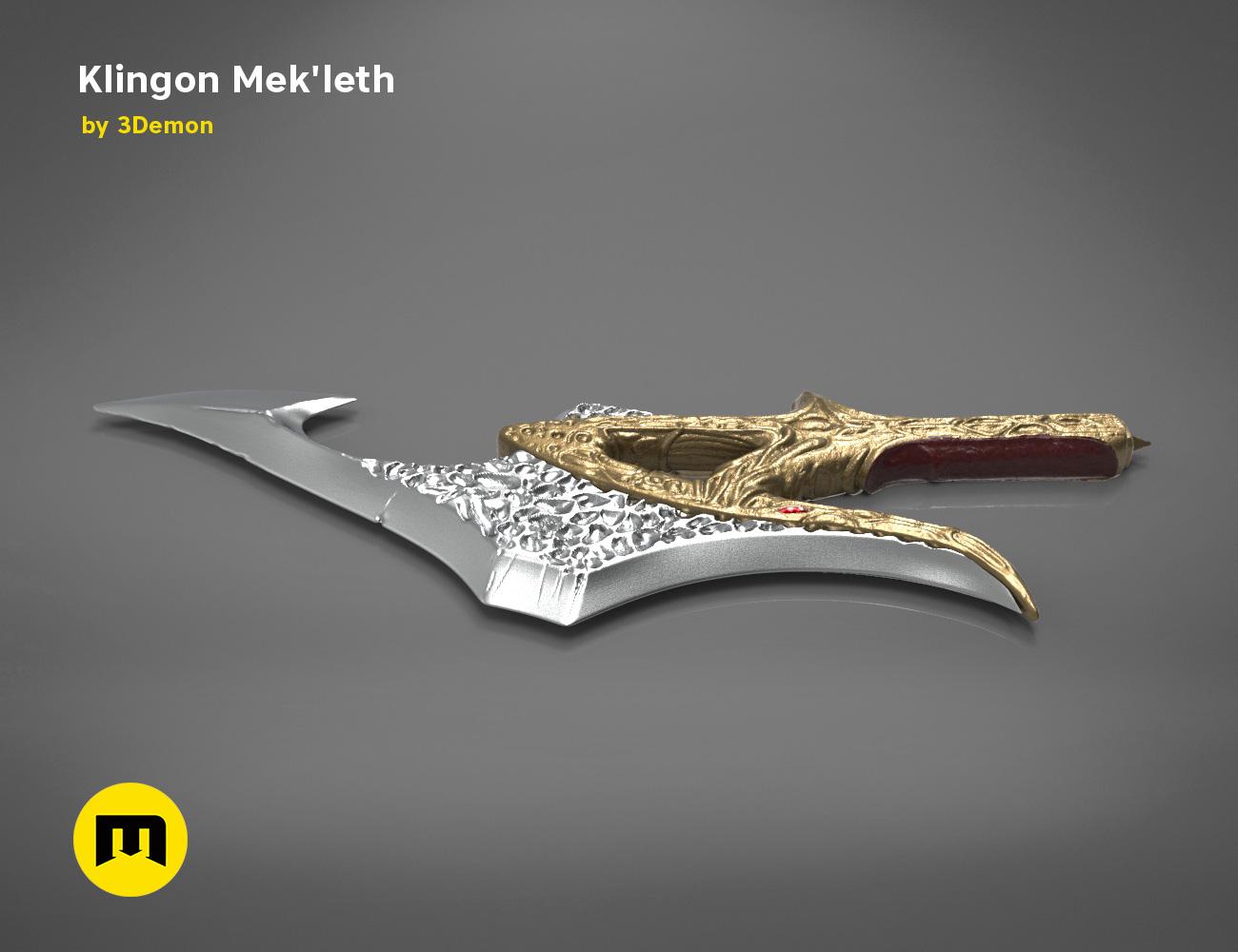 mekleth1_color_render.470.jpg Download OBJ file Klingon Mek'leth - Star Trek • Model to 3D print, 3D-mon