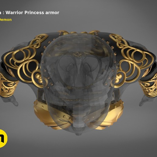 render_scene_Xena-armor-color.6.jpg Download STL file Xena - Warrior Princess cosplay armor • 3D print template, 3D-mon