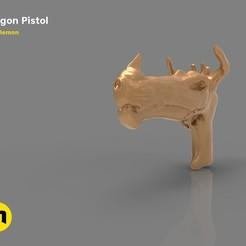 Télécharger objet 3D Pistolet Dragon Fantasy, 3D-mon