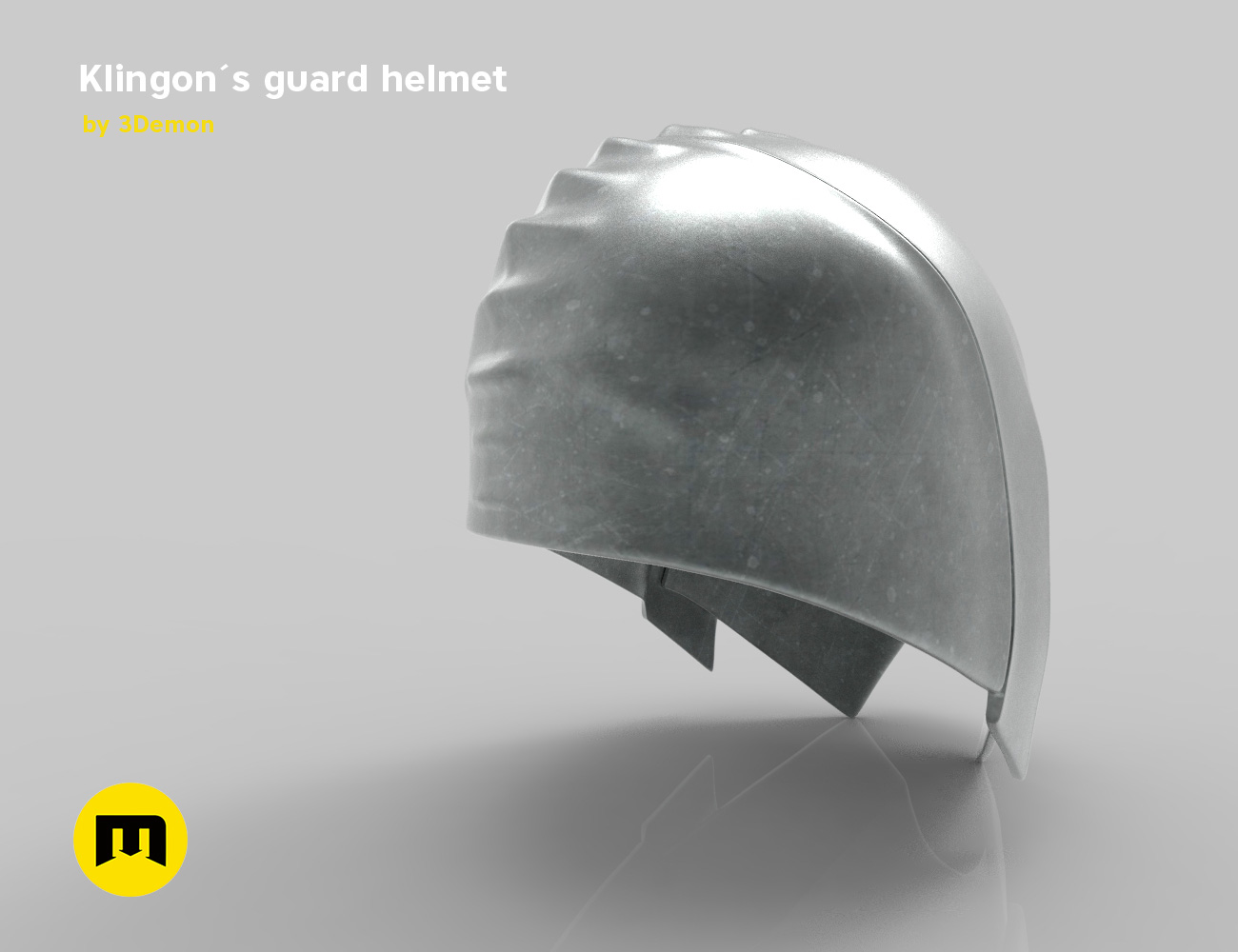 render_klingon_color.50.jpg Download STL file Klingon guard helmet • 3D printer object, 3D-mon