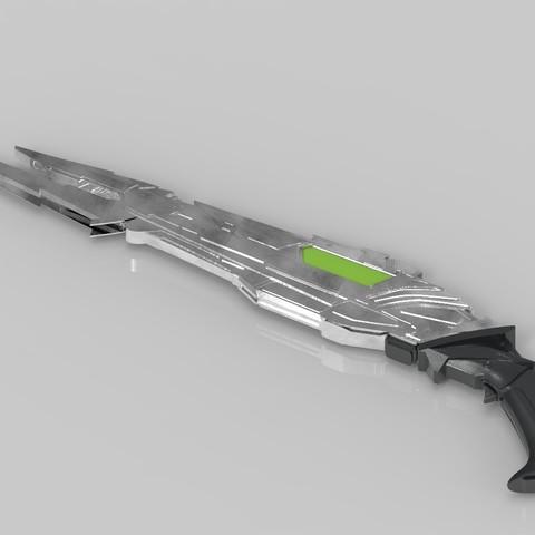 render_rifle_color.904.jpg Download STL file Klingon rifle • Model to 3D print, 3D-mon