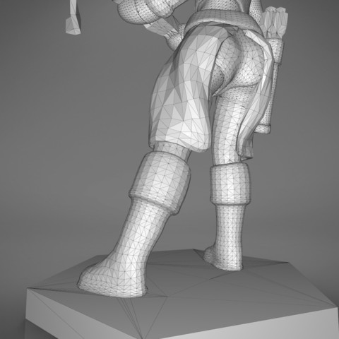female_ranger-detail_6.536.jpg Download STL file ELF RANGER FEMALE CHARACTER GAME FIGURES 3D print model • 3D printing object, 3D-mon