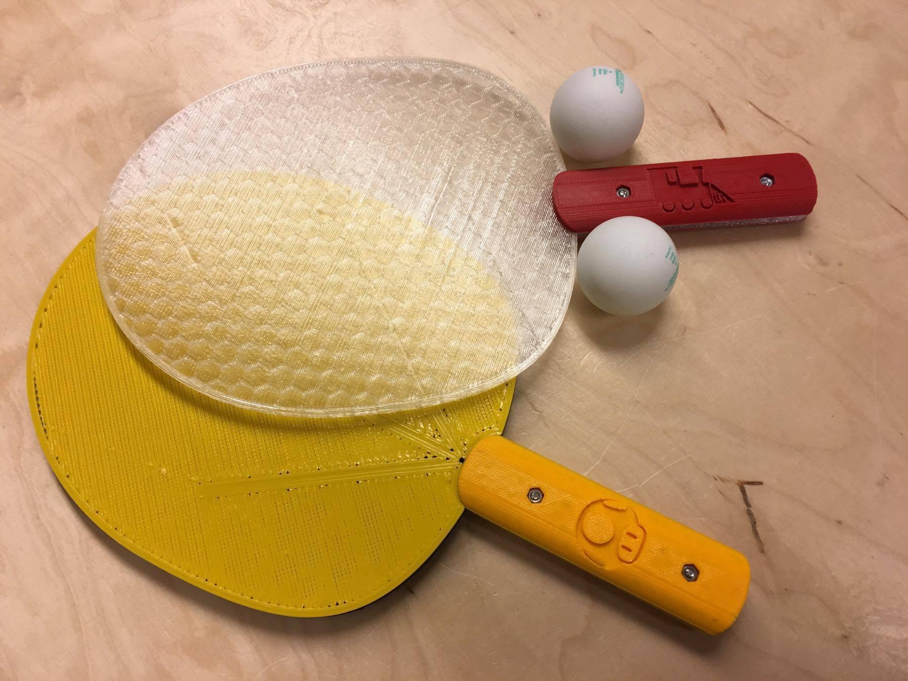 ping pong makerslab 3d print 014.jpg Télécharger fichier STL gratuit Ping Pong tennis de table • Design pour impression 3D, 3D-mon
